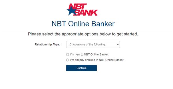 NBT Online Banker Login Process 4