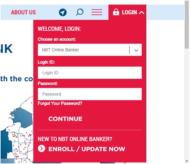 NBT Online Banker Login Process