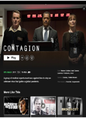 Contagion on Netflix